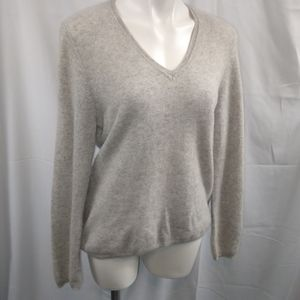 Cashmere by Charter Club V-neck Sweater Sz XL